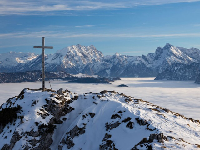 Gipfelkreuz Winter